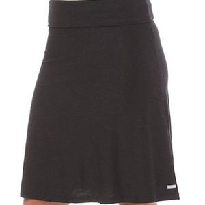 Columbia Pedal Flat Black A- Line Pull On Skirt